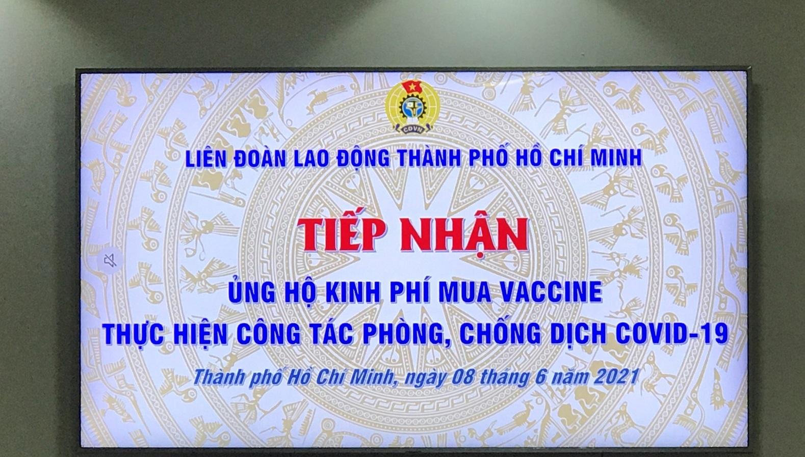 Ủng hộ 800 triệu đồng mua Vaccine thực hiện công tác phòng, chống dịch Covid-19