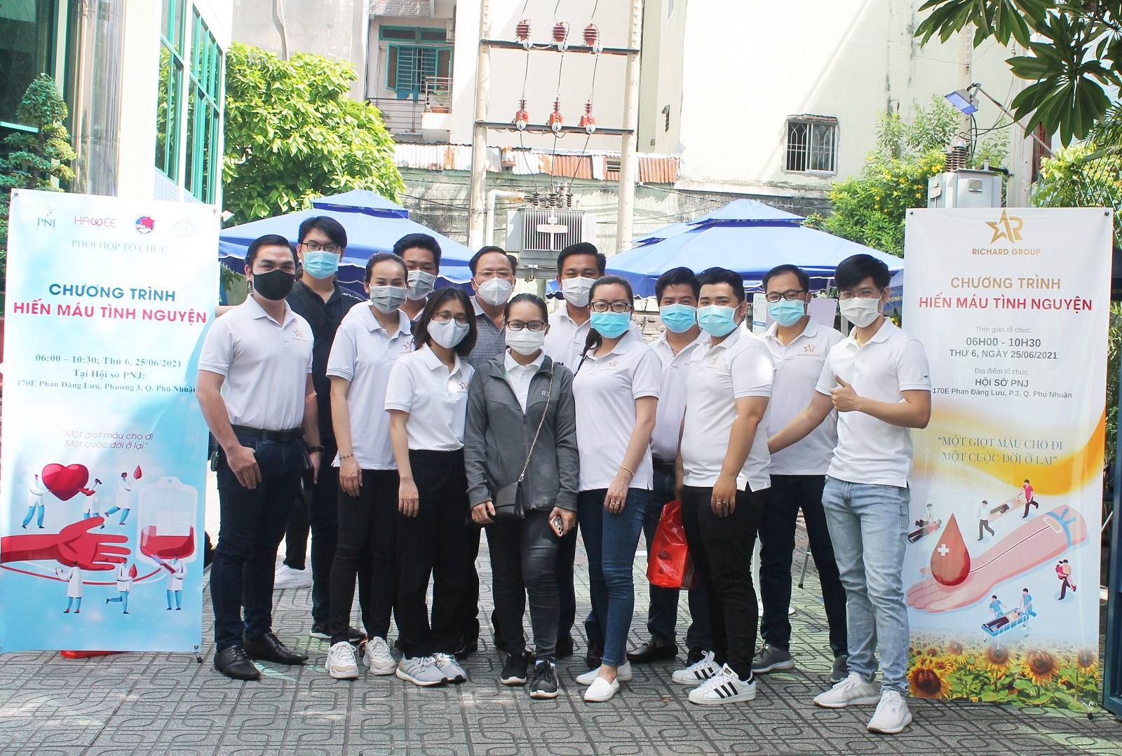 Tập đoàn Richard Group tham gia hiến máu nhân đạo
